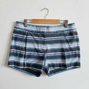 J Crew Striped Pleated Shorts - 2